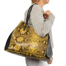 Italian yellow python snakeskin large tote  handbag ;NEWLY ARRIVED STYLE!