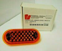 NEW Federal Signal Corporation 330500-02  12VDC Amber LED, Amber Lense, Smooth