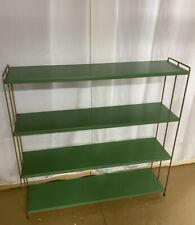 Vintage Frame Tier Mid Century (LIME GREEN) Metal Bookshelf Industrial Modern