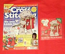 Cross Stitch World Of Cross Stitching # 104 + FREE Lickle Ted CS KIT & Magazine