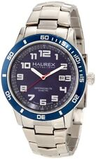 Haurex Italy Men's 7A355UBB Premiere Stainless-Steel Blue Dial Date Watch