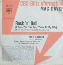 """7"""" 1974 CBS-BLITZ PROMO! MAC DAVIS : Rock´n´Roll MINT-?"""