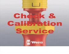 Check and Calibration Service:  Wera Kraftform Kompakt VDE Torque WE074750