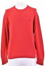 POLO RALPH LAUREN Mens Crew Neck Jumper Sweater XL Red Cotton  GF08
