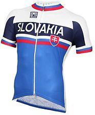 Santini Herren Slovakia National Champion Short Sleeve Jersey - White/Blue, XS