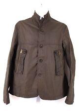 J Lindeberg X British Millerain Waxed Cotton Field Jacket Dark Brown Men's M