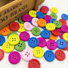 50/100pcs Mix Color 4 Holes Wood Buttons 20mm Sewing Craft Mix Lots WB538