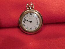 """Vintage Elgin 1"""" Pocket Watch. Wadsworth Referee Gold Filled Case. Works Well."""