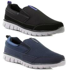 Mens Slip On Memory Foam Casual Fitness Walking Running Gym Trainers Shoes Size