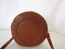 Vintage Brown Round Shape Crossbody Handbag
