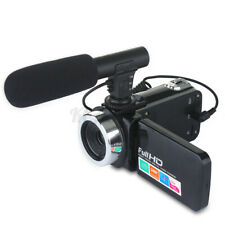 18X Full HD 1080P Video Digital Camera Set LCD Vlog Camcorder Wide Angle +Mic