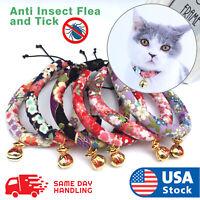 Cotton Printing Lovely Dog Cat Pet Bell Adjustable Puppy Kitten Necktie Collar