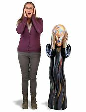 "Inflatable The Scream Doll Large 48"" Tall Edvard Munch w/ Free Sticker"