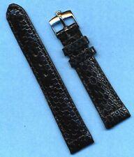 Rolex Steel Buckle & 20mm Genuine Black Snake Skin Strap Band For Vn Submariner