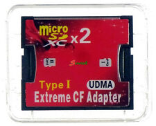 Dual Ports Micro SD/SDXC/SDHC TF To Compact Flash CF Type I Memory Card Adapter