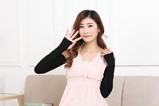 Colorful Women Cotton UV Protection Arm Warmer Long Fingerless Gloves Sleeve