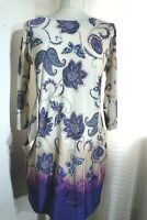 Ex Wallis Roses Print Polka Dots Casual Formal Tunic Shirt Dress Size S//M//L//XL