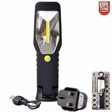 Electralight 3W COB LED Cordless Work Light Torch Li-ion Rechargeable Battery