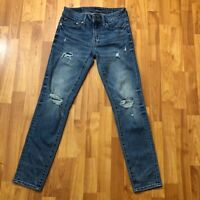 American Eagle Mens Next Level AirFlex Skinny Distresed  Blue Jeans 28 x 28.5