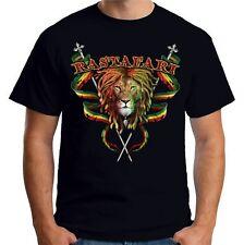 Velocitee Mens Rasta Lion T Shirt Reggae Rastafarian Marley A18005