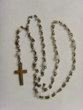 1800s antique catholic small glass seed beads rosary diminutive crucifix 48034