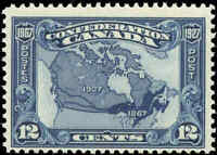 1927 Mint H Canada F+ Scott #145 12c Confederation Anniversary Stamp