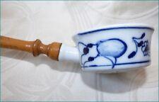 Ancien Passe Thé en Porcelaine Passoire Tamis ..... à identifier Asie ???