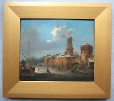 Holländische Winterlandschaft - Holland um 1800