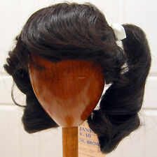 Janey DOLL WIG Dark Brown size 9-10 NEW ponytails & bangs for girl or lady dolls