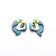 Princess Celestia My Little Pony White Unicorn Horse Rainbow Animal Earrings