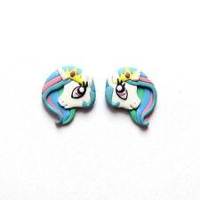 Princess Celestia My Little Pony White Unicorn Horse Rainbow Animal Earrings