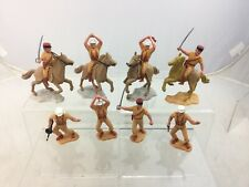 Lot 8 Timpo Toys French Foreign Legion Mounted + Footed Toy Soldiers.