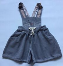 Girls Next Grey dungarees bunny rabbit 2-3 yrs lovely condition