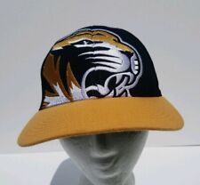 Missouri Tigers Black & Yellow Cap Fitted Size Small Zephyr Hat Embroidered