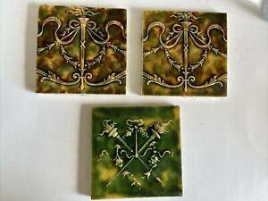 2 Providential Antique Victorian Tiles & 1 Cambridge Victorian Tile