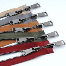 5# 120cm Metal Zipper Double Slider Coat Jacket Zip Repair DIY Clothing Sewing