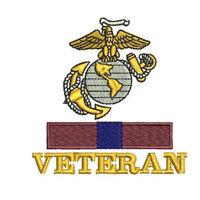 EGA USMC Veteran with Good Conduct Ribbon Army Military Embroidered Polo Shirt