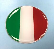 ITALIAN FLAG Sticker/Decal - 50mm DIAMETER WITH HIGH GLOSS DOMED GEL - ITALY