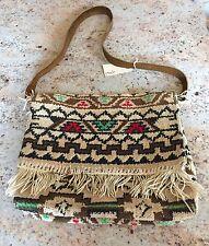 NEW Free People Vintage Loves Vintage Carpet Bag from the 70's Fringe OOAK
