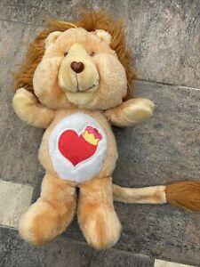 Vintage  CARE BEAR COUSIN BRAVE HEART LION PLUSH DOLL 1984