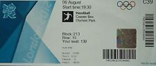 Eintrittskarte Olympia 6.8.2012 Men's Handball Spanien - Kroatien C39