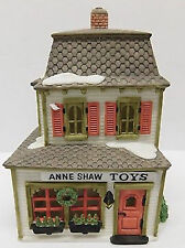 ANNE SHAW TOYS #59390 RETIRED NEW ENGLAND VILLAGE BARBER SHOP POLE ON SIDE