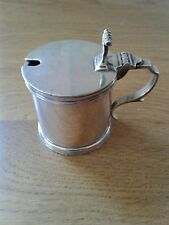 SOLID STERLING SILVER NICE QUALITY MUSTARD POT LONDON 1967