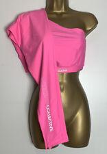 Asos Neon Pink Stretch One Shoulder Active Legging Set Size 10