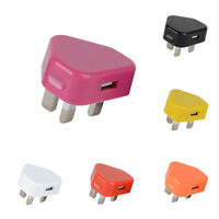 5V 1A USB Wall Charger UK Plug Travel AC Power Adapter for Samsung iPhone 4 5 6
