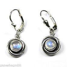 Zierliche Ohrringe / Ohrhänger aus Silber 925 mit echtem Mondstein
