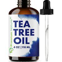 Tea Tree Oil 4oz Aromatherapy Relaxation Body & Skin Nail Fungus Acne Treatment