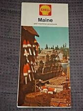 Vintage 1964 Shell Maine and Maritime Provinces Color Highway/Road Map