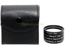 37mm. kit 4 aggiuntivi +1 +2 +4 +10 diottrie Blackdove-cameras con custodie. MAC