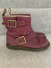 Womens Girls Dr Martens Purple Gayle Biker Boots Size UK 3